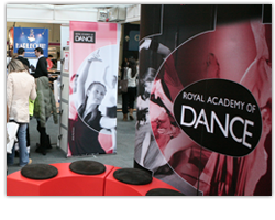 view Royal Academy of Dance Exhibition Stand and Banner Design